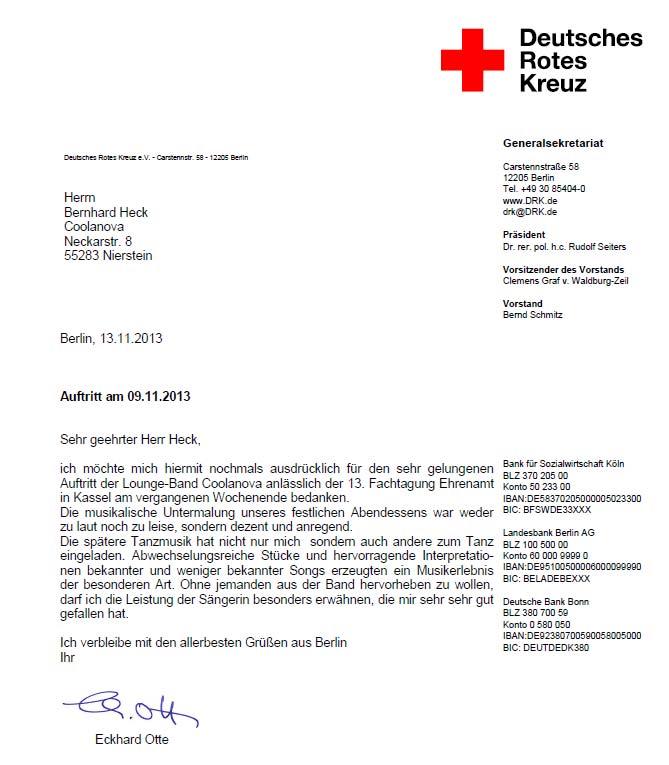 Referenz Ehrenamttagung Rotes Kreuz